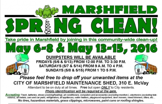 Spring Clean May 6-8 & 13-15